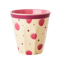 "Melamin Becher ""Splash"" Pink"