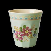 "Melamin Becher ""Vintage Flower"" Mint"
