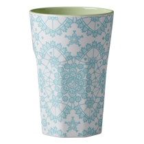 Melamin Latte Becher LACE Mint