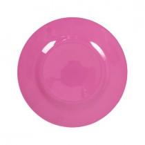 Melamin Teller Unifarben Pink