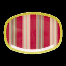 Melamin Platte Retro Stripes
