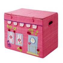 Spielzeugkorb Haus Pink