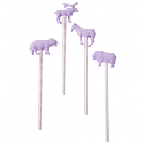 Bleistift Set ANIMALS Flieder