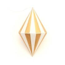 Papieranhänger Stripes Gold