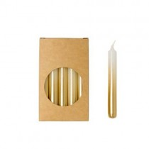 20er Kerzen Set 10cm Gradient Gold