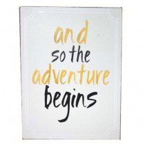 "Schild ""Adventure"""