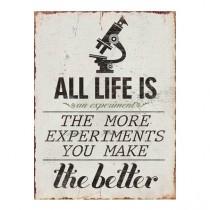 """Schild """"Experiment"""""""