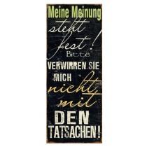 """Schild """"Meine Meinung"""""""
