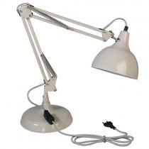 große Schreibtischlampe Cremegrau