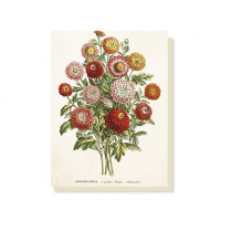 "Vintage Klappkarte ""Chrysanthemes"""
