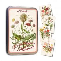 Vintage Karten Set Sommerblümchen