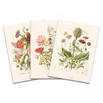 Notizheftchen Set Sommerblümchen