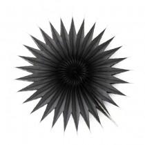 Papieranhänger Snowflake Black Ø15