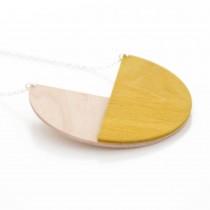 Halskette Geometric Circle Senf
