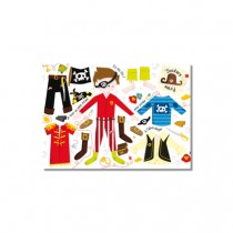 Stickerpostkarte Anzieh-Pirat