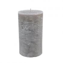 Stumpenkerzen 10cm x 15cm Steel Grey