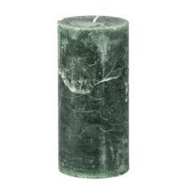 Stumpenkerze 10cm x 20cm Hunter Green, 140 Stunden