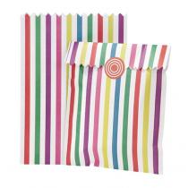 Geschenktütchen Set mit Stickern Bunt