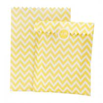 Geschenktütchen Set mit Stickern Gelb