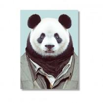 Karte mit Tierportrait Panda