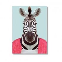 Karte mit Tierportrait Zebra