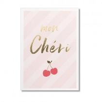 """Timi Karte """"Mon Chéri"""" mit Goldprägung"""