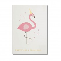 "Timi Karte ""Party like a flamingo"" mit Goldprägung"