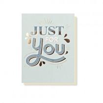 "Timi Klappkarte ""Just for you"""