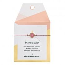 """Armband """"Make a wish"""" Rose Quartz"""