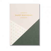 """Karte """"Happy Birthday"""" mit Goldprägung"""