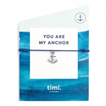 "Stretch Armband ""You are my anchor"""