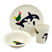 Raw Earth Kinder Set Orca and Chicken