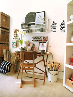 Laden Schreibtisch